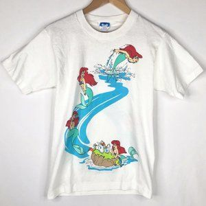 Rare 90s Disney's The Little Mermaid T-Shirt Small